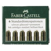 Faber - Black Ink Cartridges Set 6pce