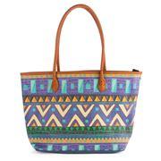 Condura - Aztec Print Blue Tote Bag