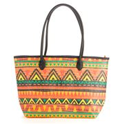 Condura - Aztec Print Orange Tote Bag