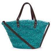 Condura - Fabiana Turquoise Straw Beach Bag