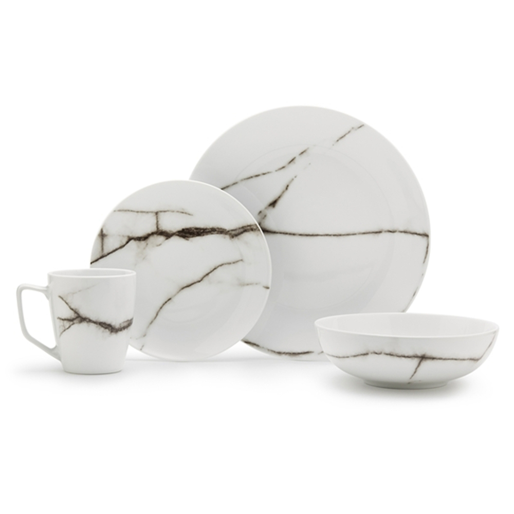 S Amp P Marble White Dinner Set 16pce Peter S Of Kensington