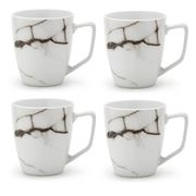 S & P - Marble White Coffee Mug Set 4pce