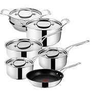 Tefal - Jamie Oliver New Wave Steel/Copper Set 5pc + Steamer