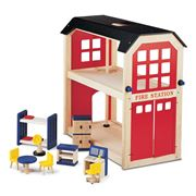 Pintoy - Fire Station & Accessories Set
