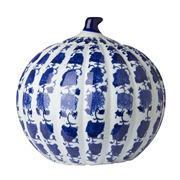 Avalon - Blue and White Medium Pumpkin Jar