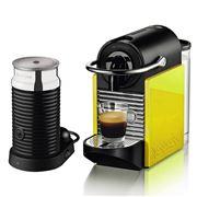 Breville - Nespresso Pixie Clips Blk & Lemon Coffee Machine