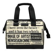 Sachi - Insulated Lunch Bag News Print Small