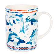 Ashdene - Deep Blue Dashing Dolphins Mug