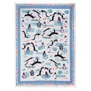 Ashdene - Deep Blue Penguin Play Tea Towel