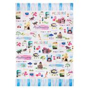 Ashdene - Australia Down Under Melbourne Tea Towel