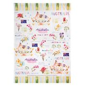 Ashdene - Australia Down Under Australia Tea Towel