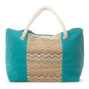 Makaron - Canvas Wood Beach Bag