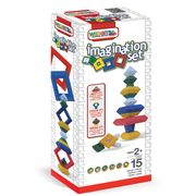 Wedgits - Imagination Wooden Building Block Set 15pce