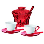 Guzzini - Belle Epoque Red Tea Set 8pce