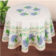 French Linen - Lavender Bouquet Ecru Round Tablecloth 180cm