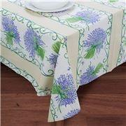 French Linen - Lavender Bouquet Ecru Tablecloth 155x200cm