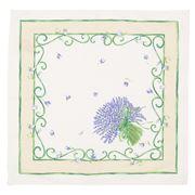 French Linen - Lavender Bouquet Ecru Napkin