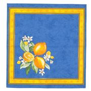 French Linen - Citron Blue Napkin