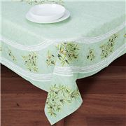 French Linen - Clos des Oliviers Green Tablecloth 155x250cm