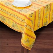 French Linen - Clos des Oliviers Yellow Tablecloth 155x200cm