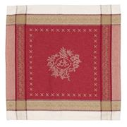 French Linen - Monogramme Jacquard Red Napkin