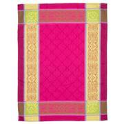 French Linen - Renaissance Jacquard Fuchsia Tea Towel