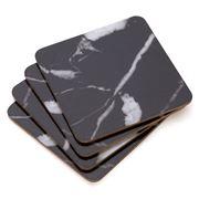 S & P - Dine Black Marble Coaster Set 4pce