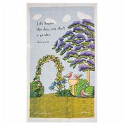 Rodriquez - Red Tractor Start A Garden Tea Towel