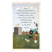 Rodriquez - Red Tractor Keeping Calm Tea Towel