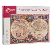 Pomegranate Kids - Antique World Map Puzzle 1000pce