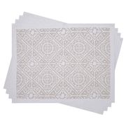 Madras - Amalfi White Placemat Set 4pce