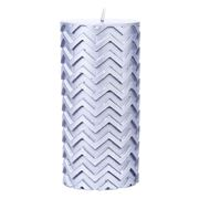 Amalfi - Lux Silver Pillar Candle 15cm