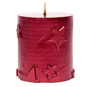Amalfi - Solstice Red Pillar Candle 8cm