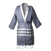 Lalay - Cotton Dark Blue Bathrobe 2-3 Years