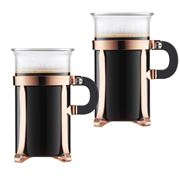 Bodum - Chambord Copper Coffee Glass Set 2pce