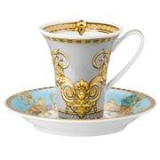 Rosenthal - Versace Prestige Gala Tall Blue Cup & Saucer