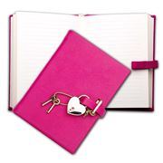 Graphic Image - Goatskin Pink Small Heart Lock Journal