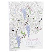 Book - Flower Fantasy: An Anti-Stress Colouring Book