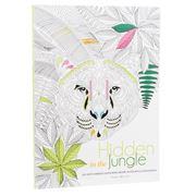 Book - Hidden In The Jungle: An Anti-Stress Colouring Book