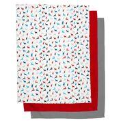Rans - Mutlicolour Reindeer Tea Towel Set 3pce