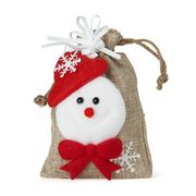 Boz Christmas - Snowman's Treats Natural Bag