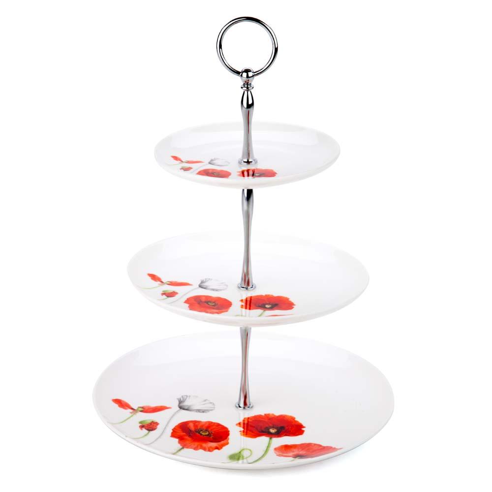 ashdene poppies 3 tier cake stand peter 39 s of kensington. Black Bedroom Furniture Sets. Home Design Ideas