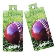 MyBagTag - Cricket Ball Luggage Tag Set 2pce