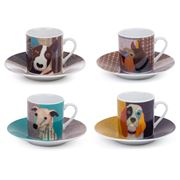 Magpie - Poochies Espresso Cup & Saucer Set 4pce