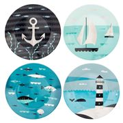 Magpie - Ahoy Side Plate Set 4pce