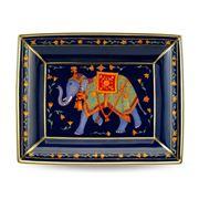 Halcyon Days - Ceremonial Indian Elephant Blue Trinket Tray
