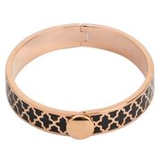 Halcyon Days - Agama Black & Rose Gold Medium Bangle