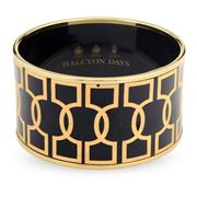 Halcyon Days - Geometric Key Black Bangle