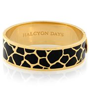 Halcyon Days - Giraffe Black & Gold Bangle