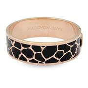 Halcyon Days - Giraffe Black & Rose Gold Bangle